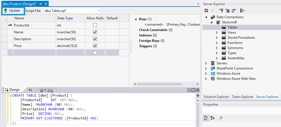 Map CRUD Stored Procedures to Entities with Entity Framework