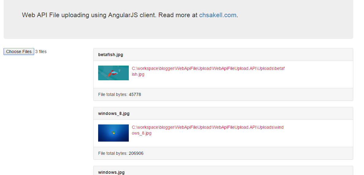 Web API File Uploading (Desktop and Web client) | chsakell's
