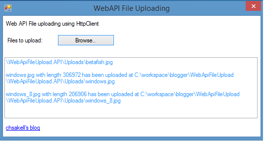 Web API File Uploading (Desktop and Web client) | chsakell's
