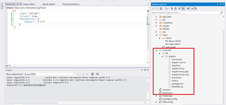 TypeScript, AngularJS, Gulp and Bower in Visual Studio 2015