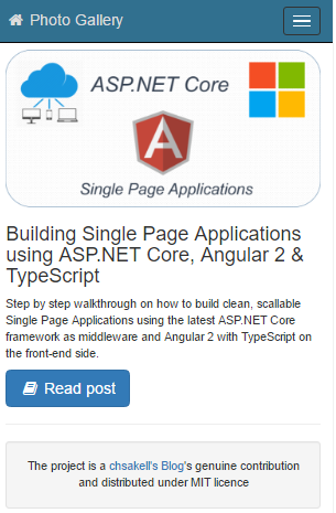 Cross-platform Single Page Applications with ASP NET Core